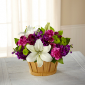 The FTD® Fresh Focus™ Bouquet C16-5186 Basket Arrangement