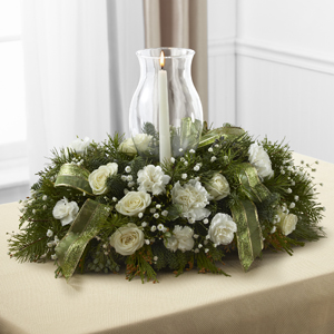 The FTD® Glowing Elegance™ Centerpiece Table Centerpiece