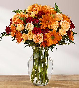 The FTD® Golden Autumn™ Bouquet Fall flowers