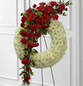 The FTD Graceful Tribute Wreath Standing Spray