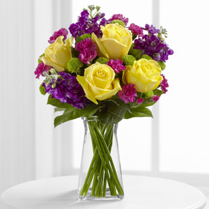 The FTD® Happy Times™ Bouquet - VASE INCLUDED