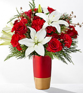 The FTD Holiday Celebrations  Mixed Flowers Holiday Colors