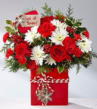 The FTD Holiday Cheer Christmas Arrangement