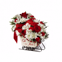 The FTD® Holiday Cheer™ Wooden Sled Container