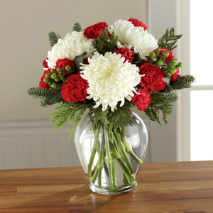 The FTD® Holiday Enchantment™ Bouquet VASE INCLUDED