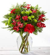 The FTD® Holiday Happenings™ Bouquet Vased Arrangement