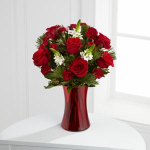 The FTD® Holiday Romance™ Bouquet  Vased Arrangement