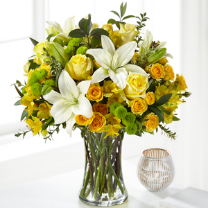 The FTD Hope & Serenity Bouquet Vase Arrangement