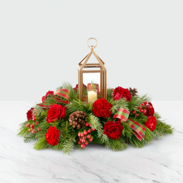 The FTD I'll Be Home for Christmas Centerpiece
