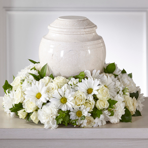 The FTD Ivory Gardens Cremation Adornment  Cremation Adornment