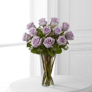 The FTD® Lavender Rose Bouquet E3-4811 Vase Included