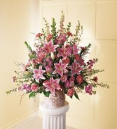 The FTD Leaf & Petals Basket Arrangement