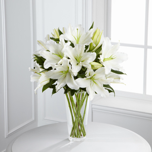 The FTD® Light In Your Honor™ Lily Bouquet