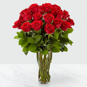 The FTD Long Stem Red Rose Bouquet