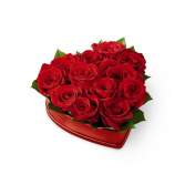 The FTD Lovely Red Rose Heart Box