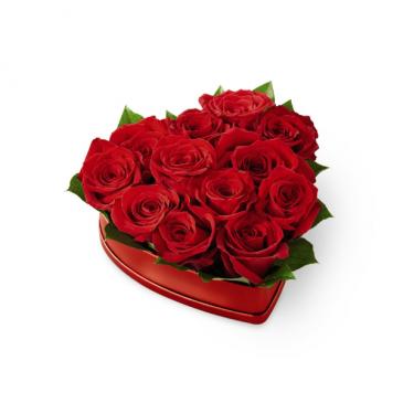 The FTD Lovely Red Rose Heart Box Roses