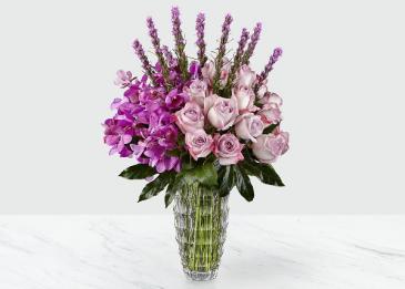 The FTD Modern Royalty Bouquet Vase Arrangement