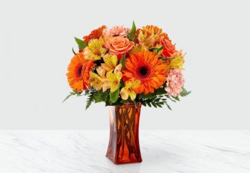 The FTD Orange Essence Bouquet Vase Arrangement