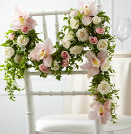 THE FTD® ORCHID ROSE™ CHAIR DÉCOR W19-4672 Reception Decor