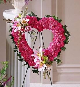 Our Love Eternal Heart Standing Spray