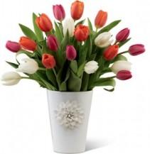 The FTD® Pacific Trends™ Bouquet Tulips Arrangement