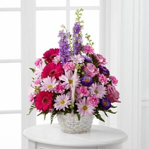 The FTD® Pastel Peace™ Basket Arrangement