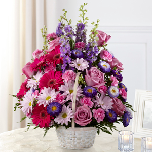 The FTD Pastel Peace Basket Basket Arrangement