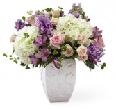 The FTD Peace and Hope Lavender Bouquet Vase Arrangement