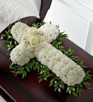 The FTD Peaceful Memories Casket Spray caskets