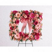 Peaceful Thoughts Wreath Standing Spray