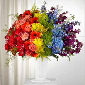 The FTD Pride & Unity Arrangement Vase Arrangement