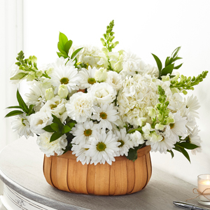 The FTD Pure Ivory Basket Basket Arrangement