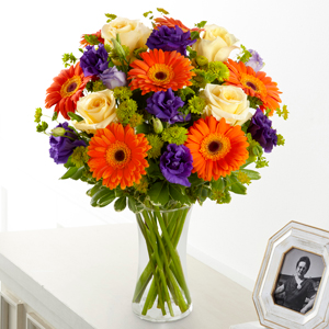 The FTD Rays of Solace Bouquet Vase Arrangement