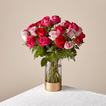 The FTD Rose Colored Love Bouquet 21-V1M