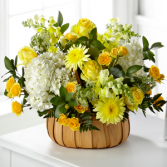 The fTD  Rustic Remembrance Basket Basket Arrangement