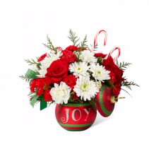 The FTD® Season's Greetings™ Glass Bobble Vase with Lid
