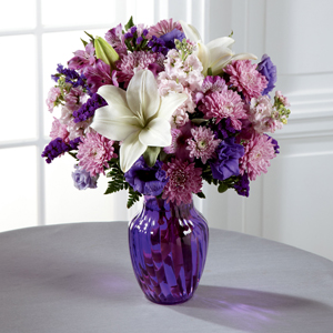 The FTD® Shades of Purple™ Bouquet - VASE INCLUDED