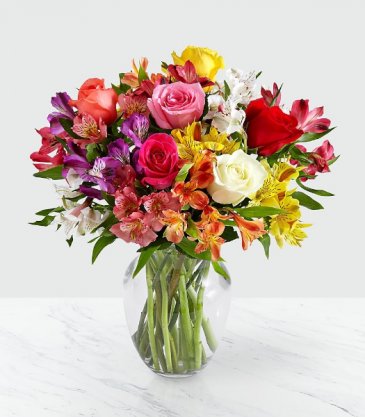 The FTD Smiles & Sunshine Bouquet Vase Arrangement