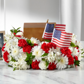 The FTD Spirit of Patriotism Cremation Adornment Cremation Adornment