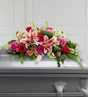 The FTD Splendid Grace Casket Spray