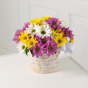 The FTD® Sunny Skies™ Bouquet N4-4322 Basket Arrangement
