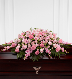 The FTD Sweetly Rest Casket Spray