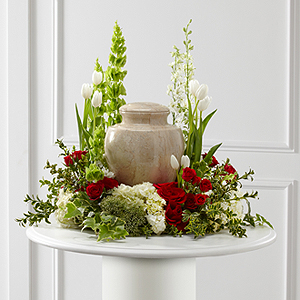 The FTD® Tears of Comfort™ Arrangement Urn Arrangement