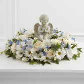 The FTD The Little Angel Ring of Flowers Sympathy Arrangement