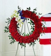 To Honor One's Country Wreath Standing Spray