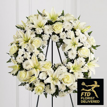 The FTD® Treasured Tribute Wreath