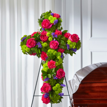 The FTD Tribute Rose Floral Cross