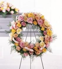 The FTD Vibrant Sympathy Wreath Wreath #7