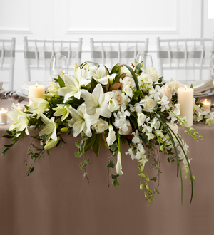 THE FTD® WHITE LINEN™ ARRANGEMENT W11-4644 Wedding Decor