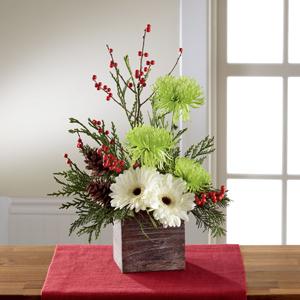 The FTD® Winter Elegance™ Bouquet Wooden Box Arrangement